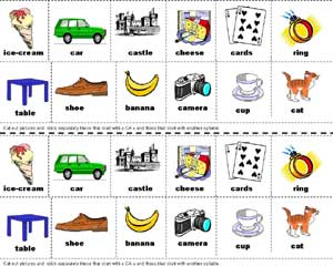 nursery school reading syllables