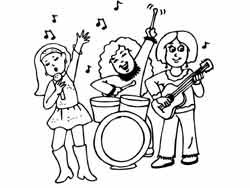 coloring page musicians