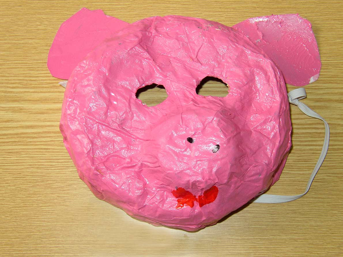 Make A Mask For Carnival At Nursery School