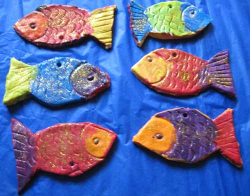 fish with salt dough kindergarten